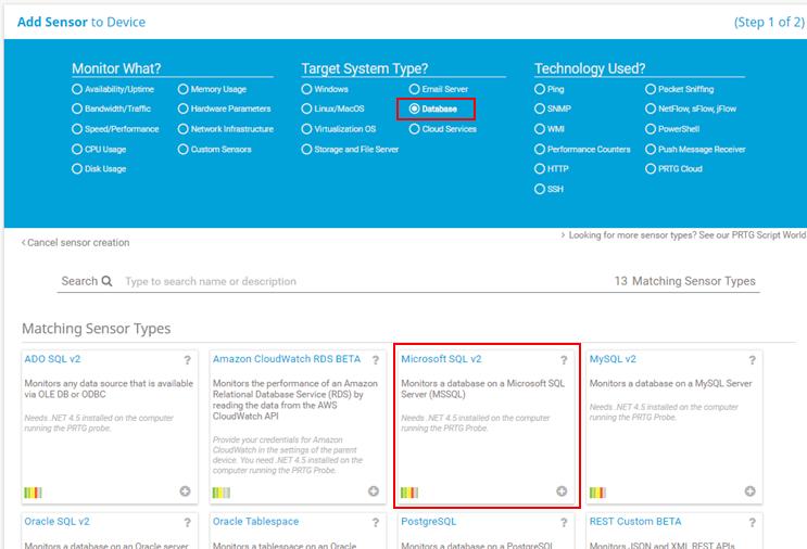 Creating a Paessler PRTG sensor for SQL Server Agent Job monitoring