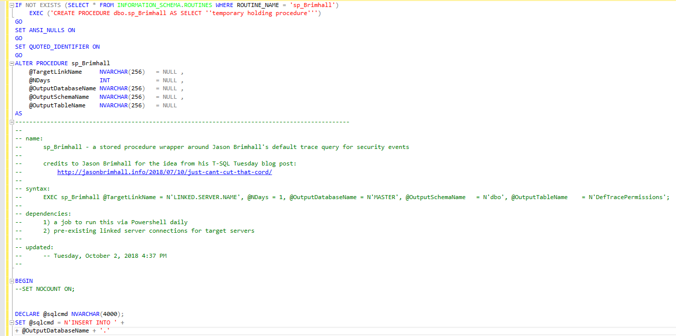 Automating another SQL Server auditing script  – kkarnsdba